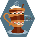 Mexican Hot Chocolate vector image vector image