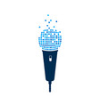 microphone logo on white background isolated mic vector image
