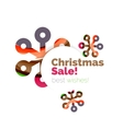 Modern abstract geometric Christmas and New Year vector image