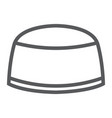 muslim cap line icon arabic and islam turkish vector image vector image