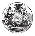 official seal us state new york in vector image vector image