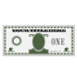one money bill vector image