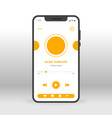 orange movie player ui ux gui screen for mobile vector image vector image