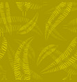 pattern of yellow and orange feathers and leaves vector image