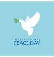 Peace dove with olive branch vector image vector image