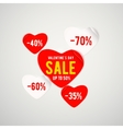 real red paper heart for vector image vector image