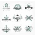 Retro Hand Drawn Logos Templates Set vector image vector image