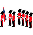 royal guard soldier vector image
