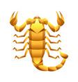 scorpio zodiac sign golden horoscope symbol vector image vector image