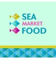 Seafood market vector image vector image