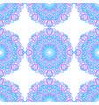 seamless pattern of round abstract mandalas vector image vector image
