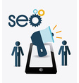 SEO design vector image vector image