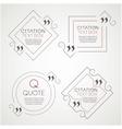 set citation text box frame for decoration vector image