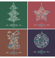 Set of decorative Christmas elements vector image vector image