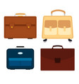 set of four bags on white background vector image vector image