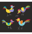 Set of roosters vector image