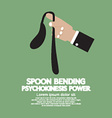 Spoon Bending Psychokinesis Power vector image vector image