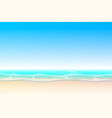summer cartoon seascape landscape vector image