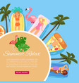 summer relax banner inscription background vector image