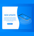 system software update data update or synchronize vector image vector image