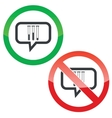Test-tubes message permission signs vector image vector image