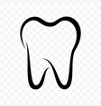 tooth icon dentistry clinic toothpaste and dental vector image