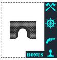tunnel icon flat vector image vector image