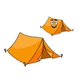 Two colorful orange tents vector image vector image