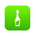 vinegar bottle icon green vector image vector image