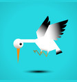 white stork flying vector image