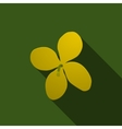 Yellow celandine on a green background vector image