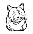 sketch of the cat on white background vector image