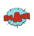 comic boom splash icon flat style vector image