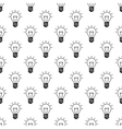 Light bulb pattern seamless vector image