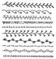 Set of hand drawn borders vector image