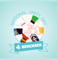 4 november day of national unity vector image vector image
