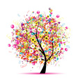 Abstract celebration tree vector | Price: 1 Credit (USD $1)