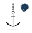 anchor icon on white vector image