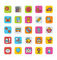 baby and kids colored icons 3 vector image