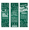 back to school banners set vector image vector image