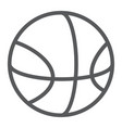 basketball line icon sport and equipment ball vector image vector image