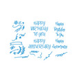birthday anniversary design graphic template vector image