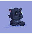 Black cat squints vector image vector image