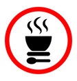 black soup icon on a white background vector image vector image