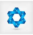 blue six-pointed star symbol vector image vector image