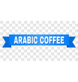 blue tape with arabic coffee title vector image vector image