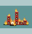 burning oil barrel vector image