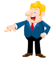 business man an angry vector image vector image