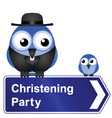 CHRISTENING PARTY SIGN vector image vector image