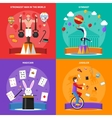 Circus Concept Icons Set vector image vector image